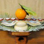 鏡餅と串柿